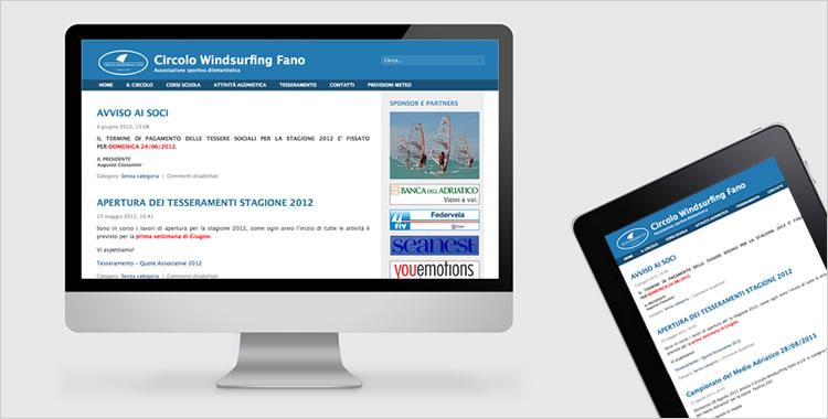Sito per associazione sportiva wind surfing fano for Casa arredo fano
